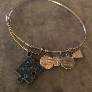 Alex and Ani puzzle piece bracelet